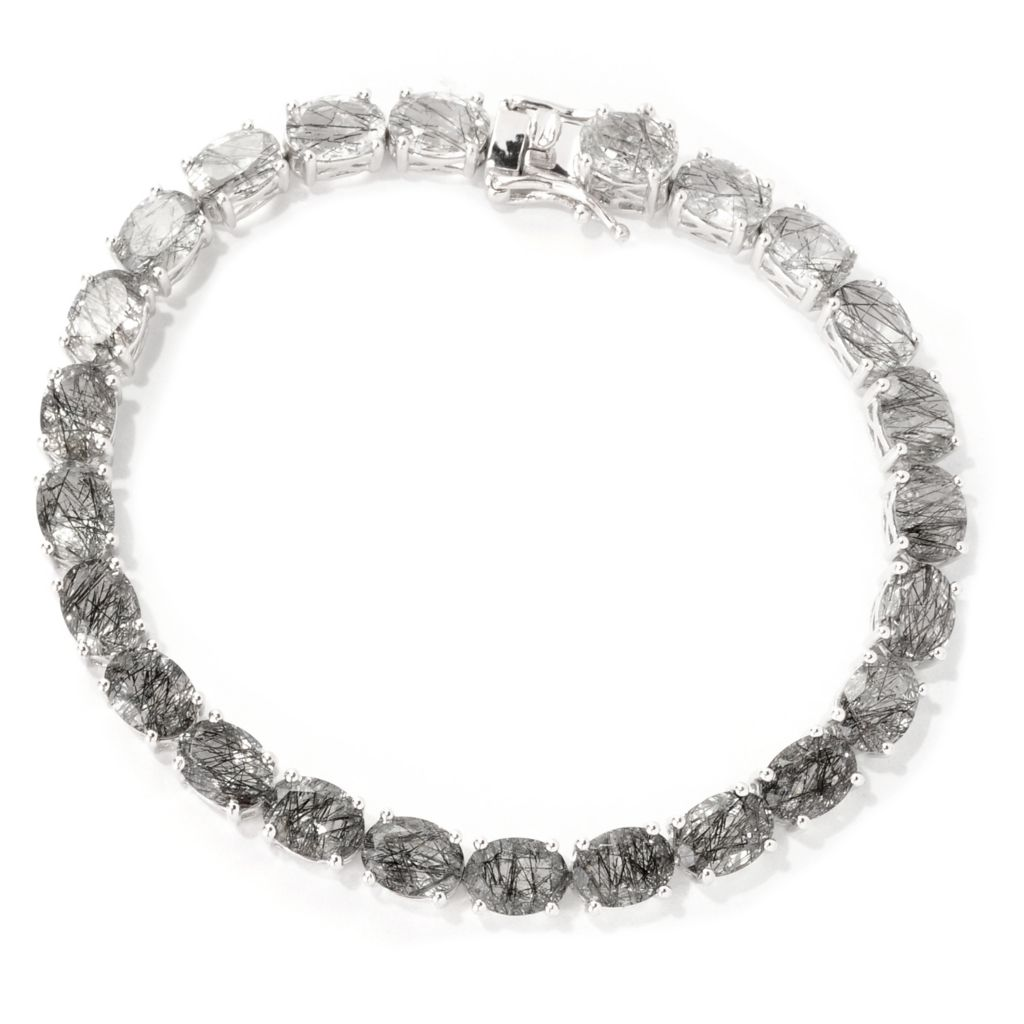 139-224 - NYC II Gradated Black Rutilated Quartz Tennis Bracelet