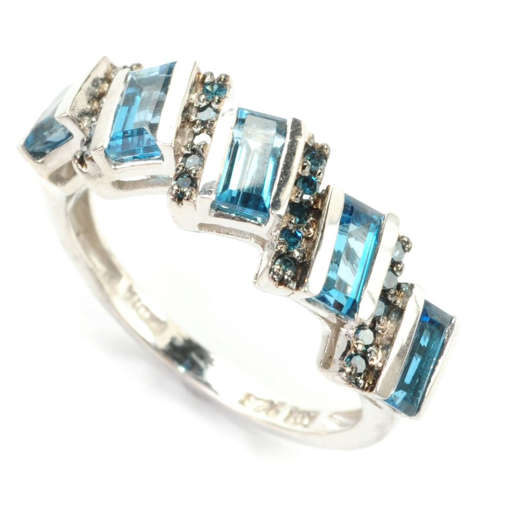 139-227 - NYC II 1.25ctw Baguette Gemstone & Fancy Color Diamond Band Ring