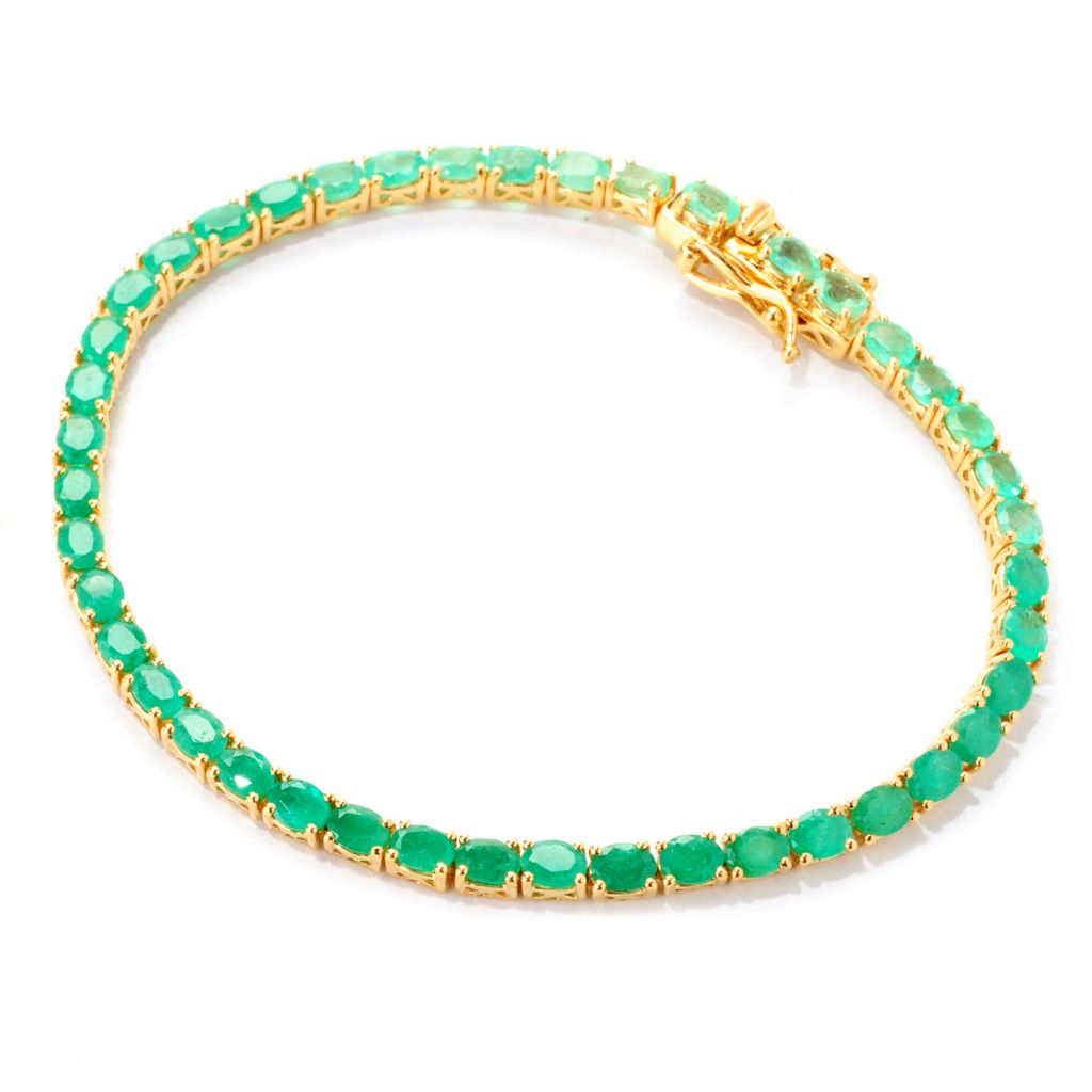 "139-228 - NYC II 7.25"" 5.59ctw Shades of Green Colombian Emerald Tennis Bracelet"