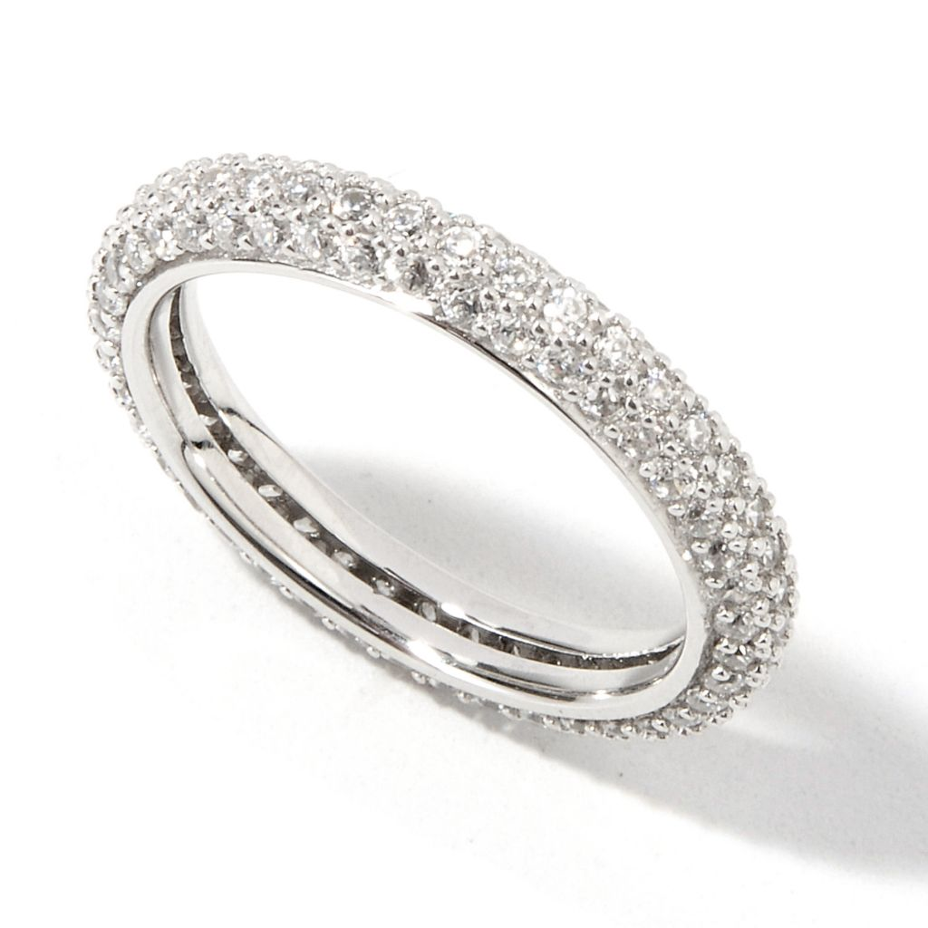 "139-234 - ""As Is"" BELITA® Platinum Embraced™ Brilliante® 1.17 DEW Eternity Ring - Size 5"