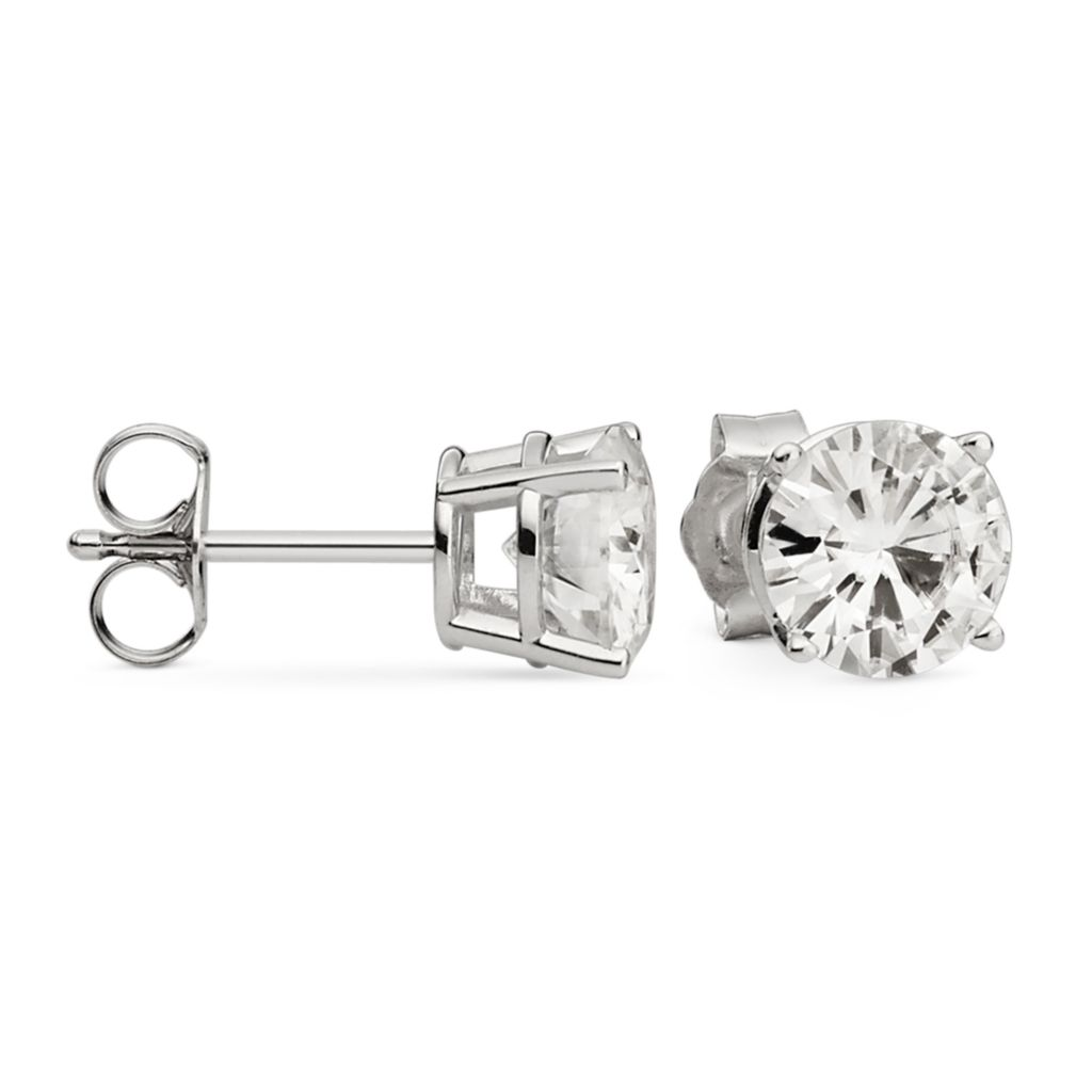 139-373 - Forever Brilliant® Moissanite 14K Gold 2.40 DEW Round Cut Stud Earrings