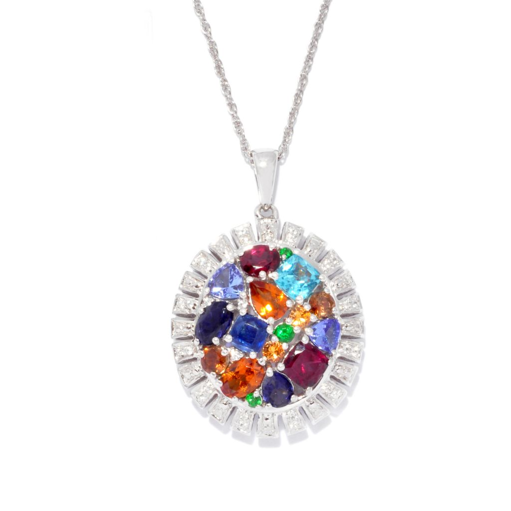 "139-559 - NYC II 4.55ctw ""The Ites"" Multi Gemstone Pendant w/ 18"" Chain"