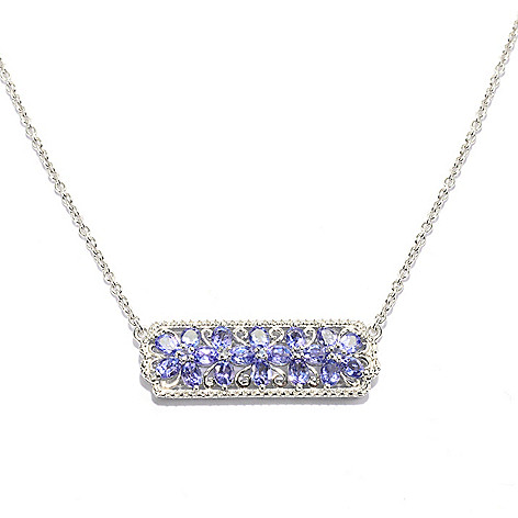 139-574 - NYC II 2.64ctw Tanzanite Flower Polished Necklace