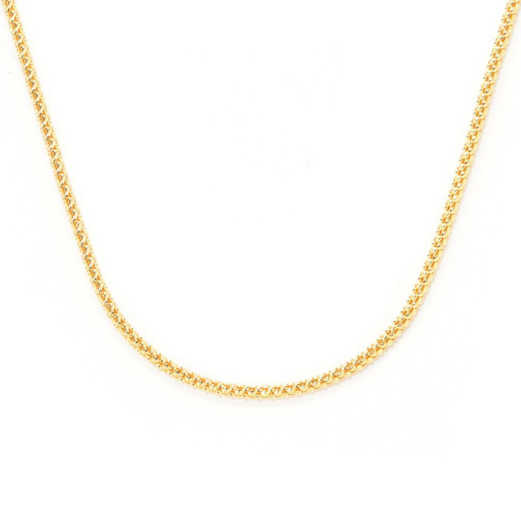 """139-645 - Toscana Italiana 36"""" Polished & Hammered Coreana Chain Necklace"""