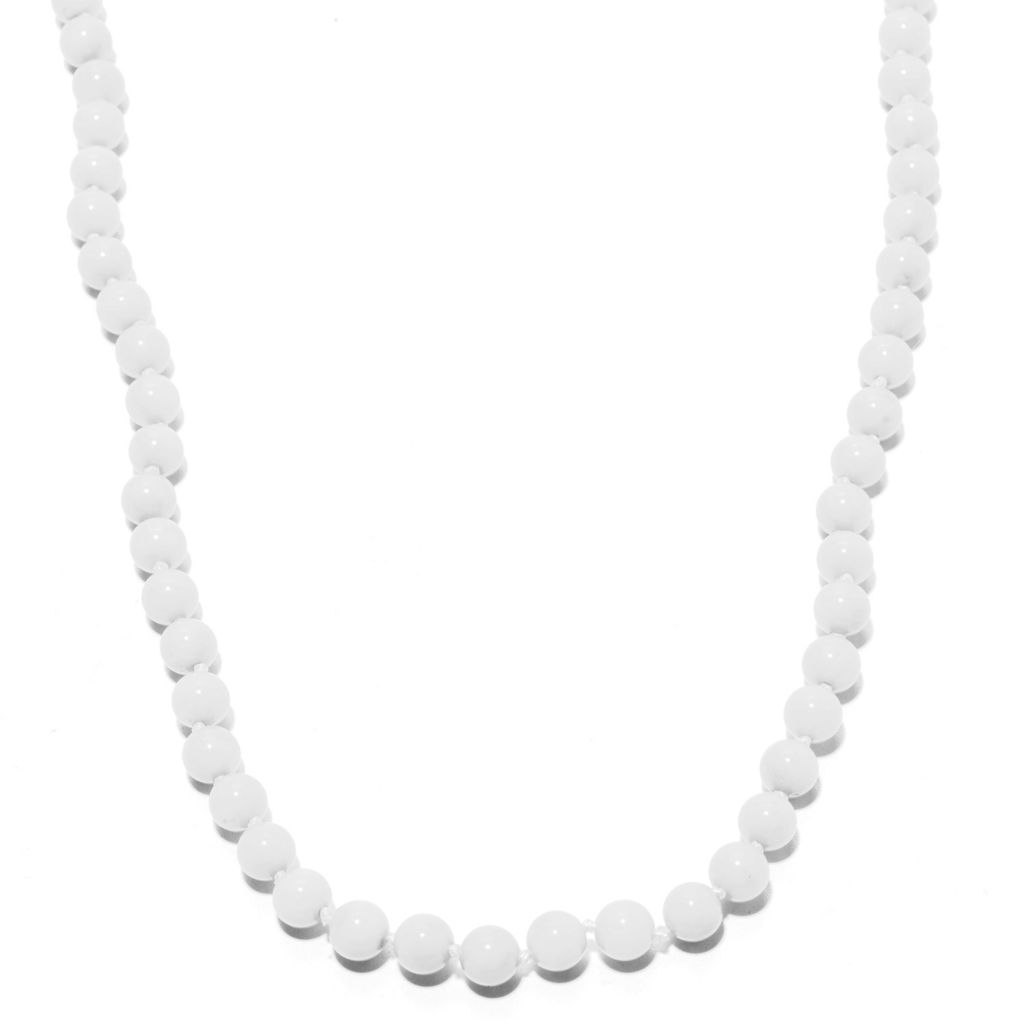 """139-703 - Gems en Vogue 20"""" Round Coral Bead Toggle Necklace"""