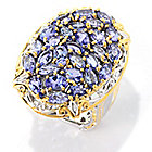 139-707 - Gems en Vogue 4.53ctw Oval, Marquise & Pear Cut Tanzanite Ring
