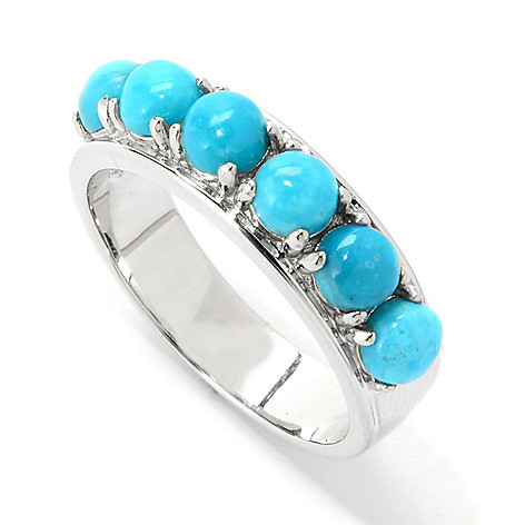 139-745 - Gem Insider™ Sterling Silver Choice of Kingman or Carico Lake Turquoise Ring