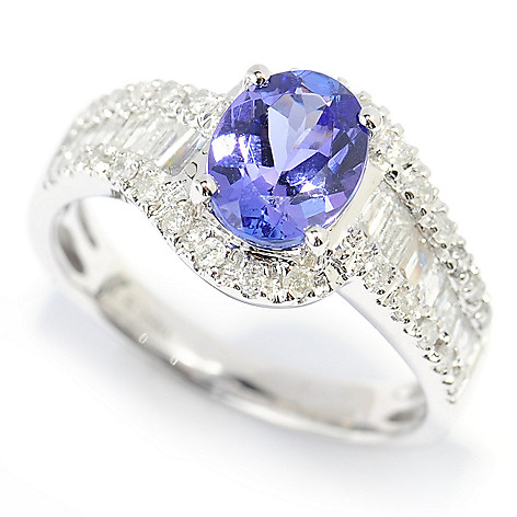 139-750 - Gem Treasures 14K White Gold 1.84ctw Tanzanite & Multi Shape Diamond Ring