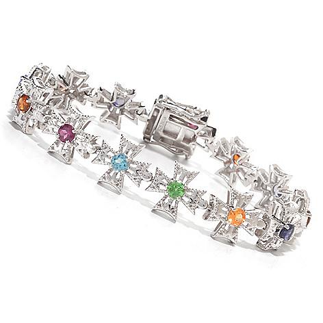 139-849 - NYC II™ ''The Ites'' Multi Gemstone Cross Link Bracelet