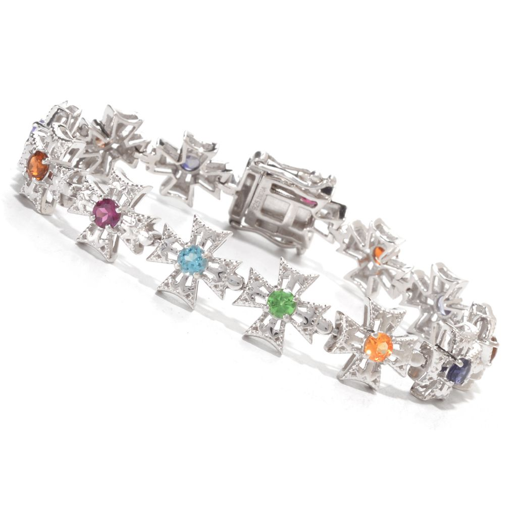 "139-849 - NYC II ""The Ites"" Multi Gemstone Cross Link Bracelet"