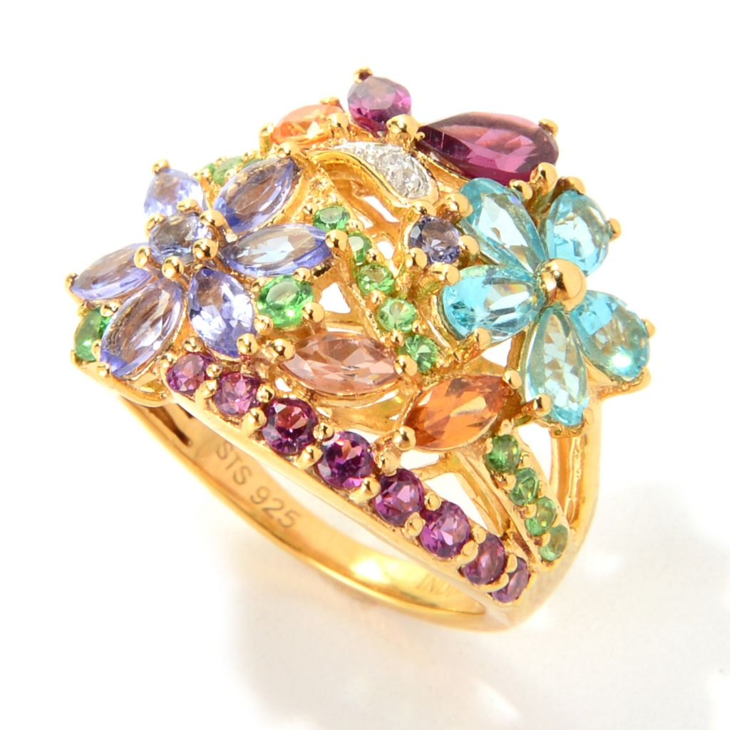 "139-850 - NYC II 3.24ctw ""The Ites"" Multi Gemstone Flower Ring"