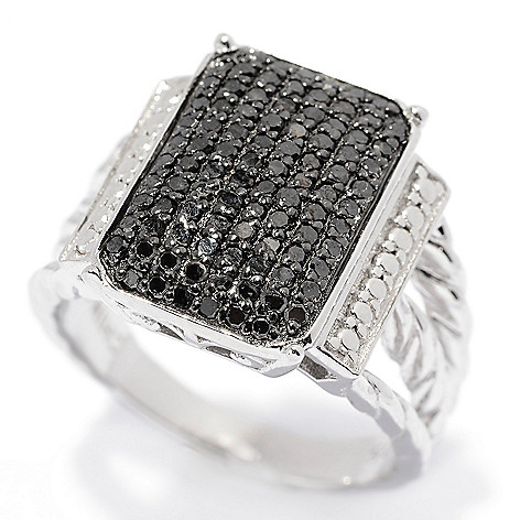 139-871 - Diamond Treasures Sterling Silver 0.50ctw Fancy Color Diamond Pave Set Ring