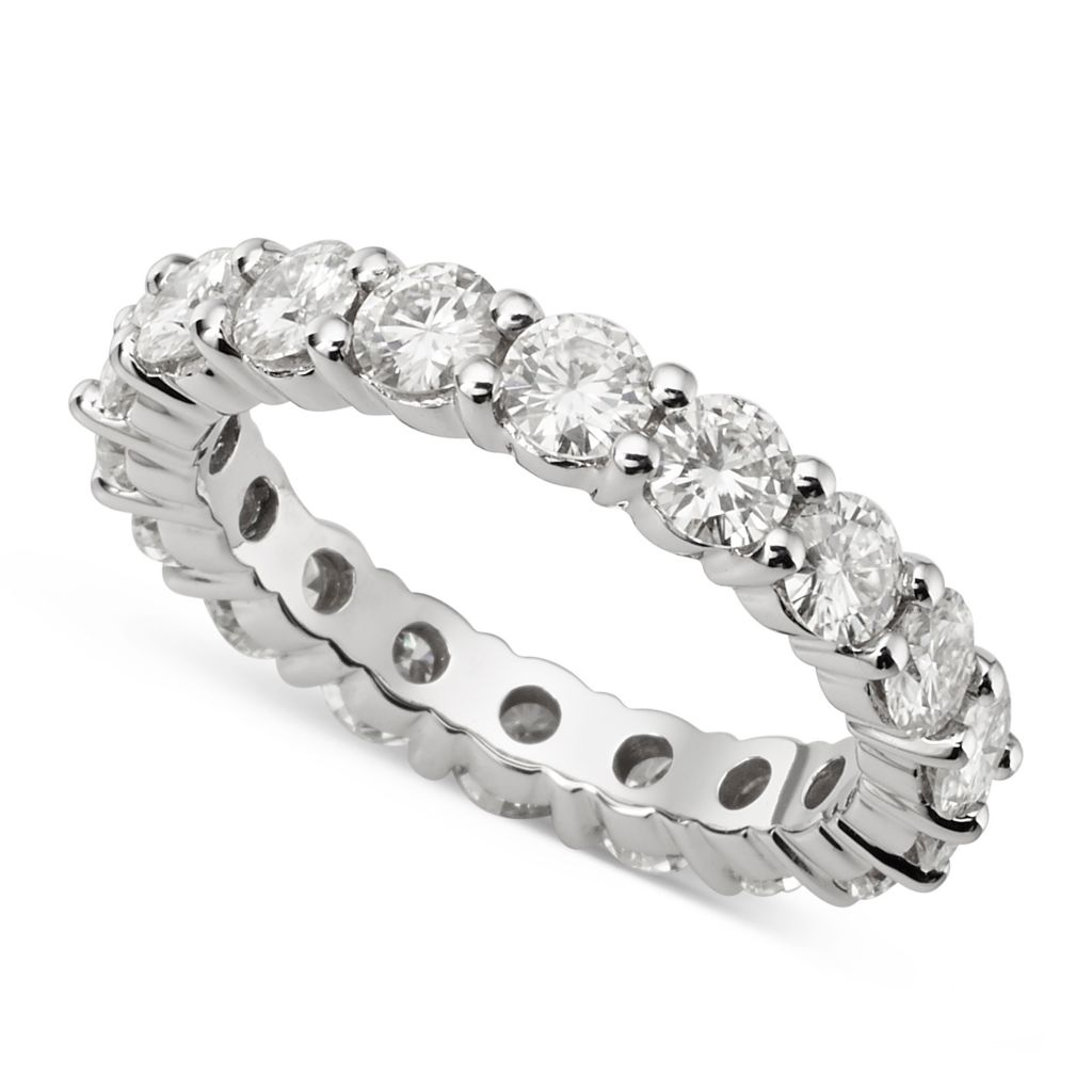 139-884 - Forever Brilliant® Moissanite 14K White Gold 2.72 DEW Round Cut Eternity Band Ring