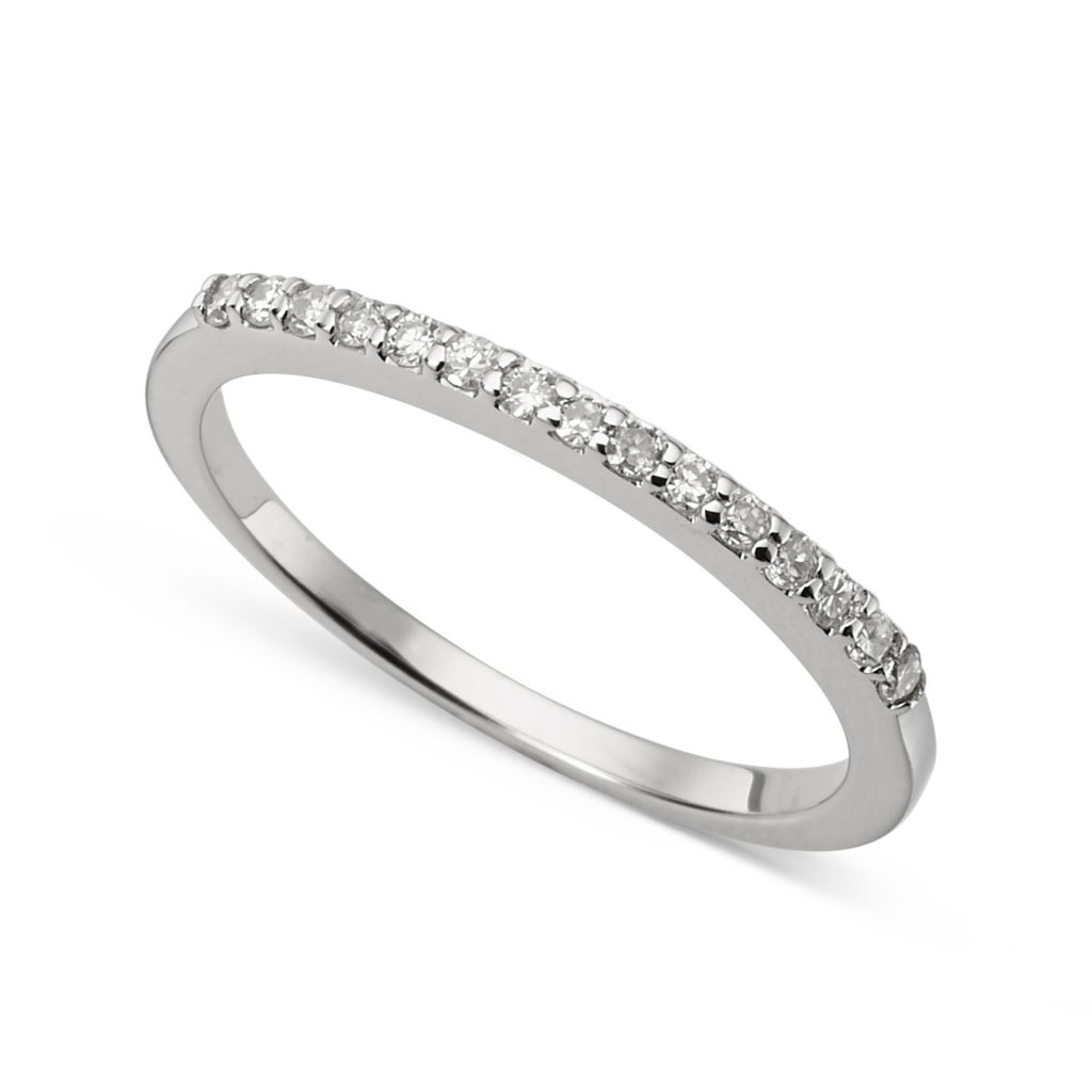 139-910 - Forever Brilliant® Moissanite 14K White Gold 0.45 DEW Round Cut Band Ring