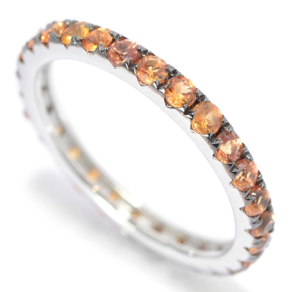 139-928 - Gem Treasures Sterling Silver Choice of Gemstone Band Ring