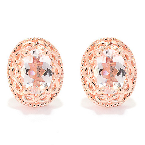 139-938 - NYC II 1.25ctw Oval Morganite Stud Earrings