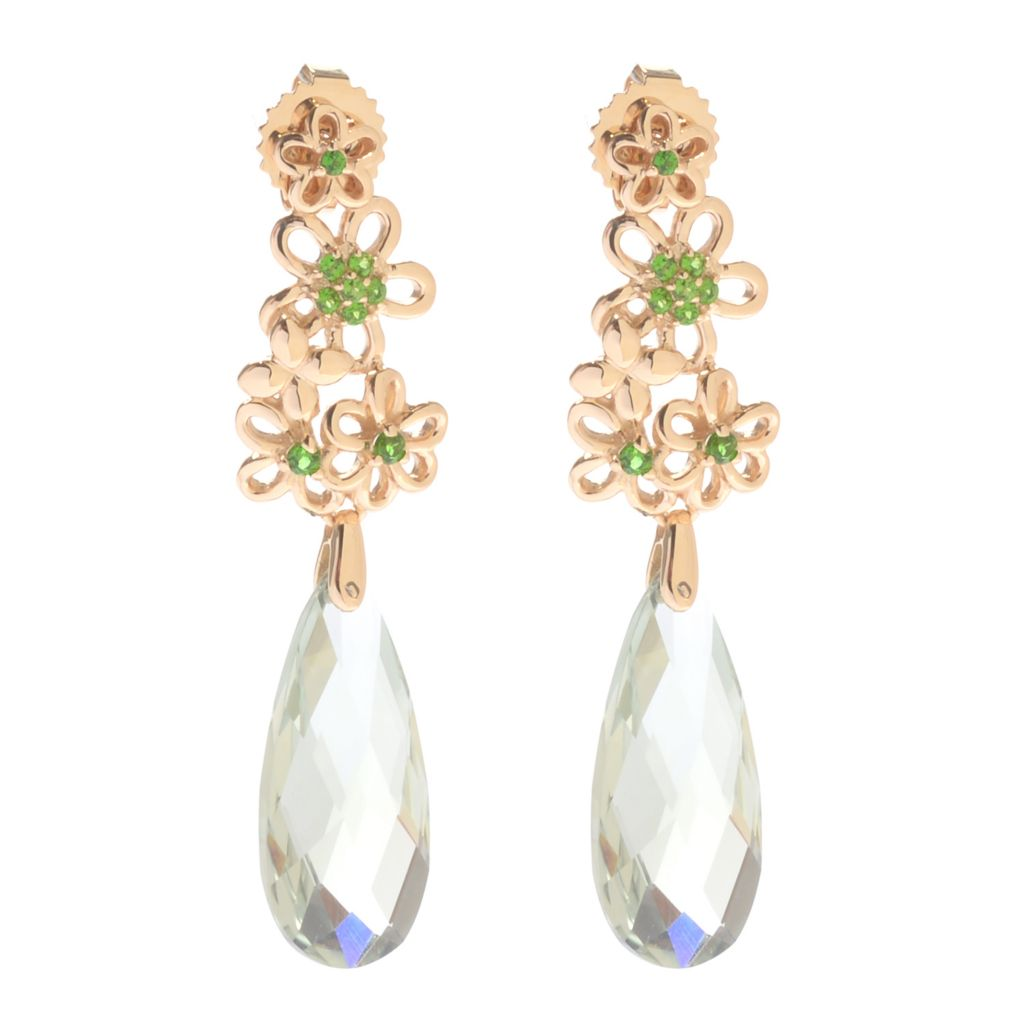 "139-941 - NYC II 1.5"" 20 x 9mm Gemstone Briolette Flower Cluster Dangle Earrings"