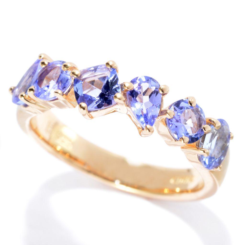 139-967 - NYC II 1.10ctw Multi Shape Tanzanite Band Ring