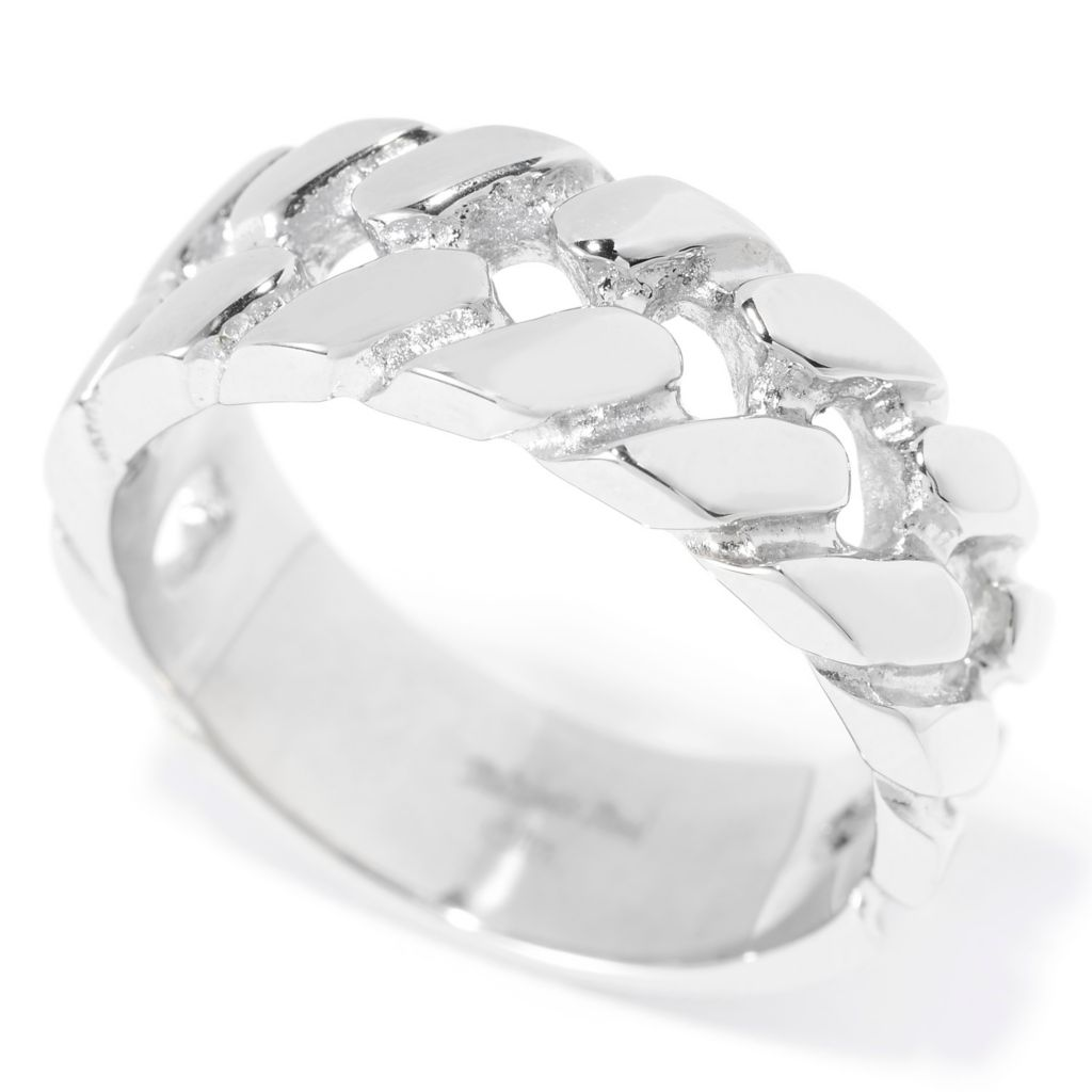 140-116 - Steel Impact™ Men's Stainless Steel Polished Curb Link Band Ring