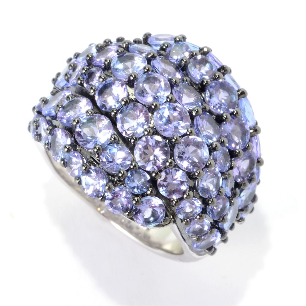 140-262 - Gem Treasures Sterling Silver 6.50ctw Tanzanite Dome Ring