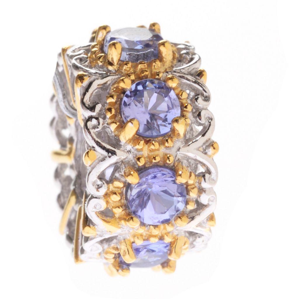 140-271 - Gems en Vogue 1.04ctw Tanzanite Eight-Stone Slide-on Charm