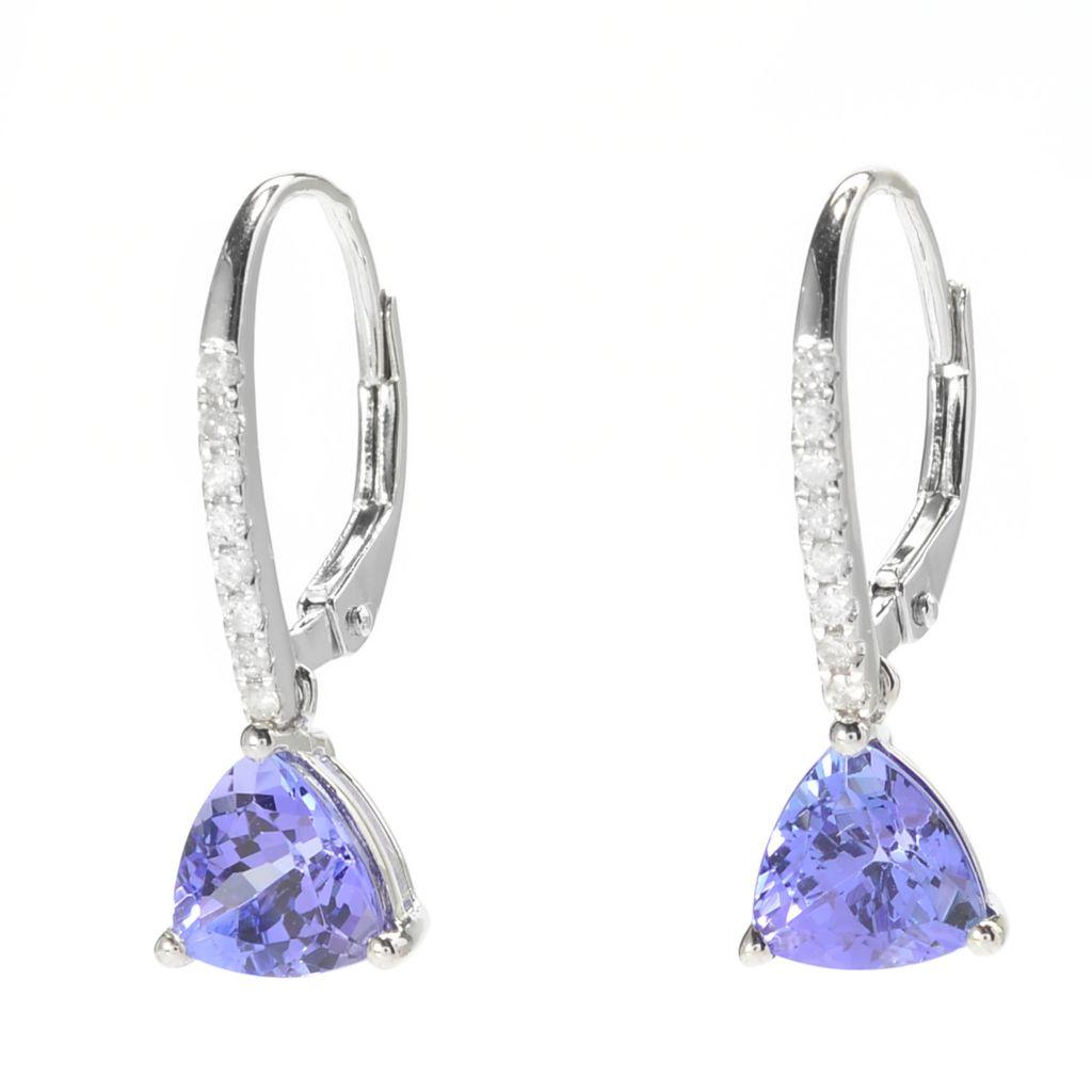 140-325 - Gem Treasures 14K White Gold 2.25ctw Tanzanite & Diamond Drop Earrings
