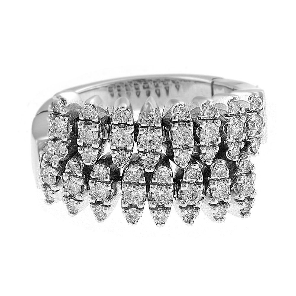 140-408 - Sonia Bitton Galerie de Bijoux 14K White Gold 1.26ctw Diamond Dream Fit™ Ring