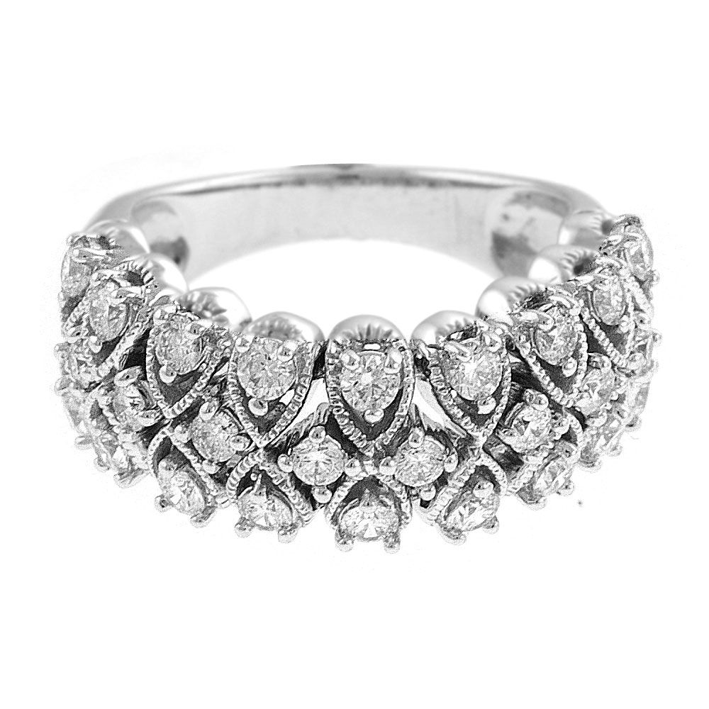 140-414 - Sonia Bitton Galerie de Bijoux 14K White Gold 1.09ctw Diamond Dream Fit™ Ring
