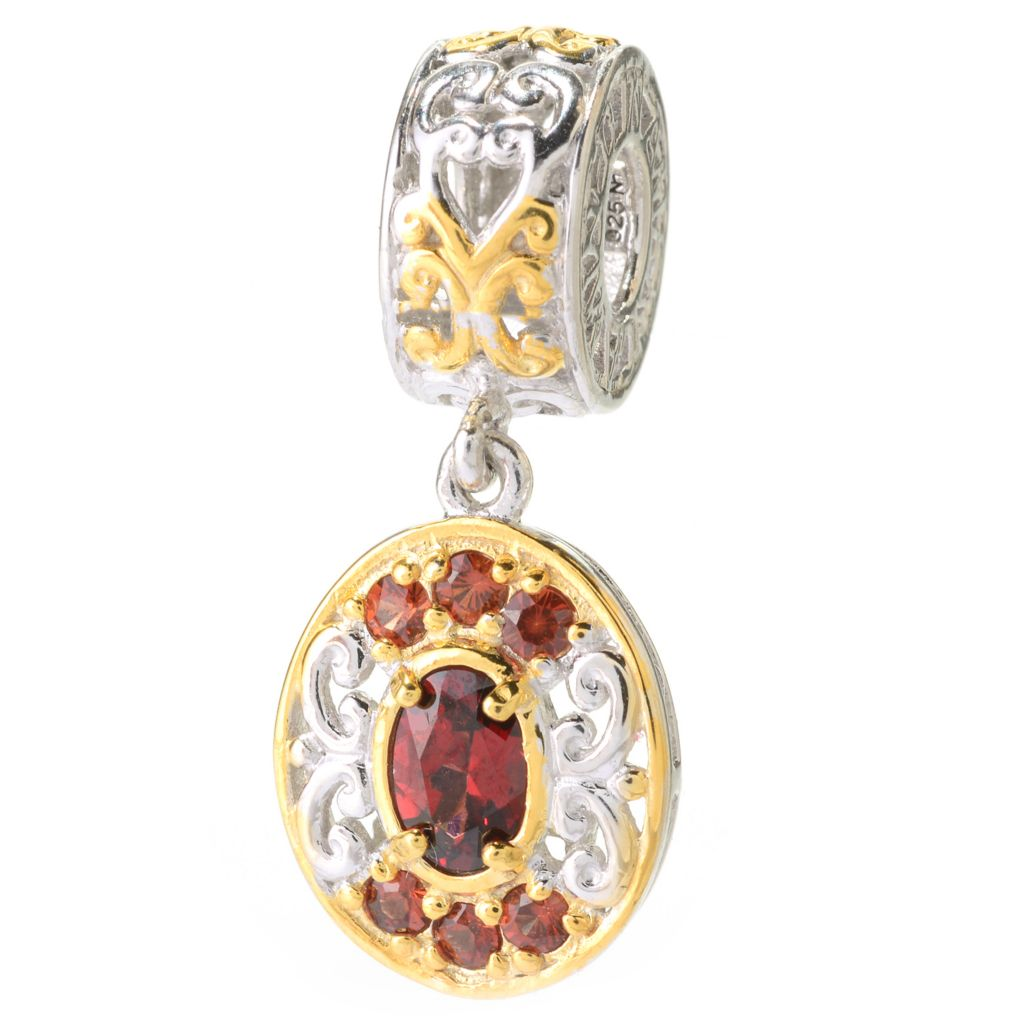 140-509 - Gems en Vogue Idaho Garnet Oval Drop Charm