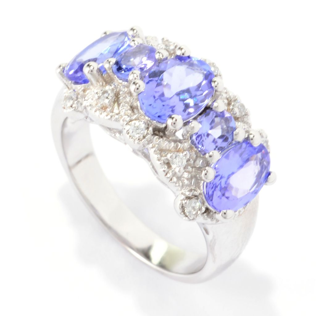 140-566 - NYC II 2.97ctw Oval Tanzanite & White Zircon Band Ring