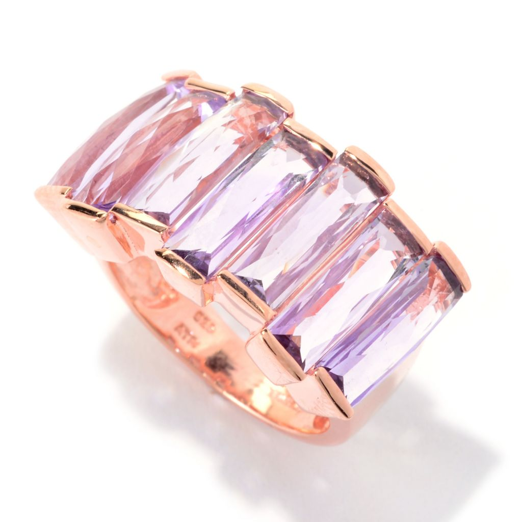 140-571 - NYC II Checkerboard Cut Baguette Shaped Gemstone Ring