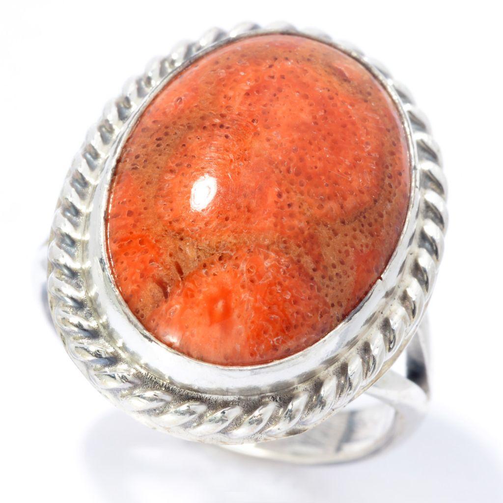140-807 - Gem Insider Sterling Silver 18 x 13mm Oval Gemstone Split Shank Ring