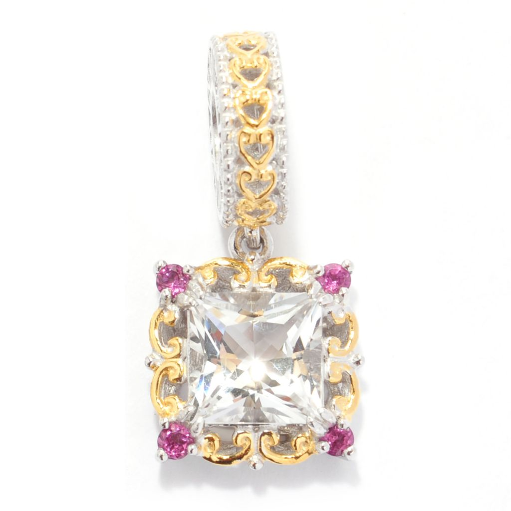 140-821 - Gems en Vogue Arkansas Quartz & Gemstone Drop Charm