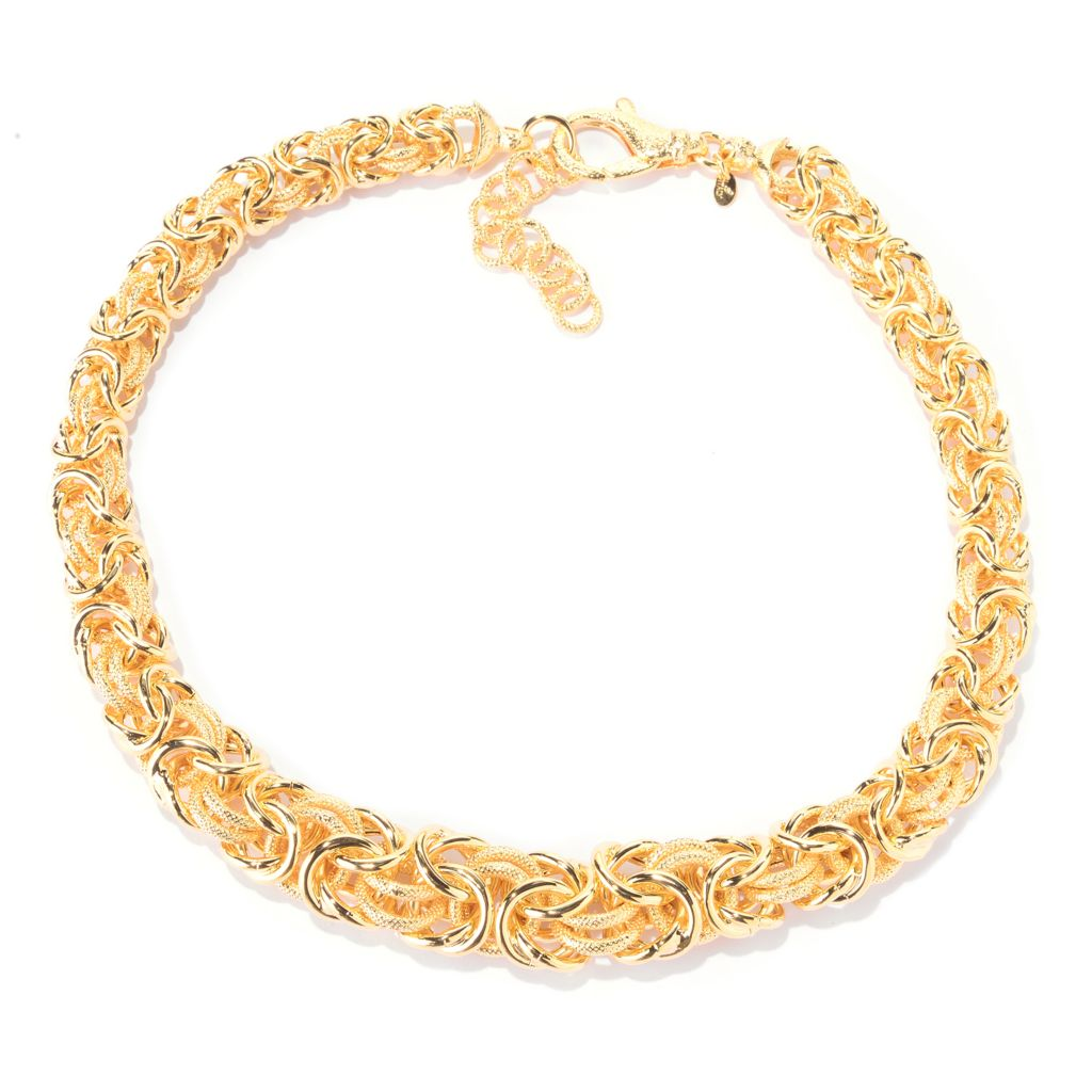 "140-888 - Toscana Italiana Handmade Graduated Byzantine Necklace w/ 2"" Extender"