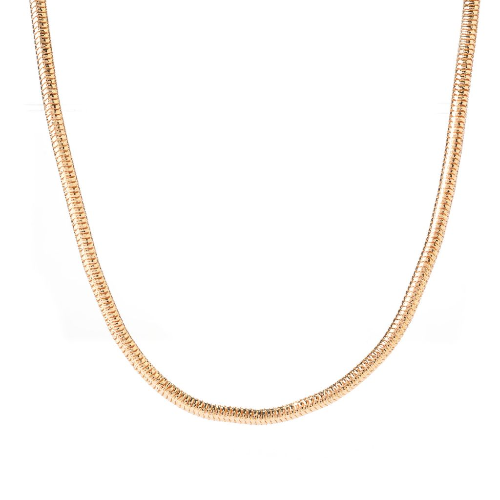 "140-900 - Toscana Italiana 18K Gold Embraced™ 36"" Diamond Cut Snake Chain Necklace"
