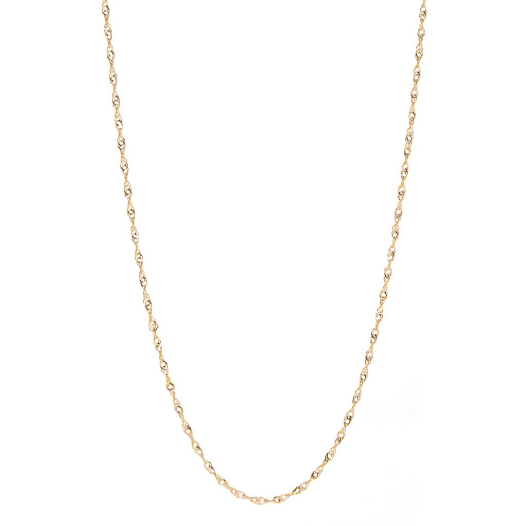 "140-945 - Italian Designs with Stefano 14K Gold 20"" Twist Necklace, 1.80 grams"