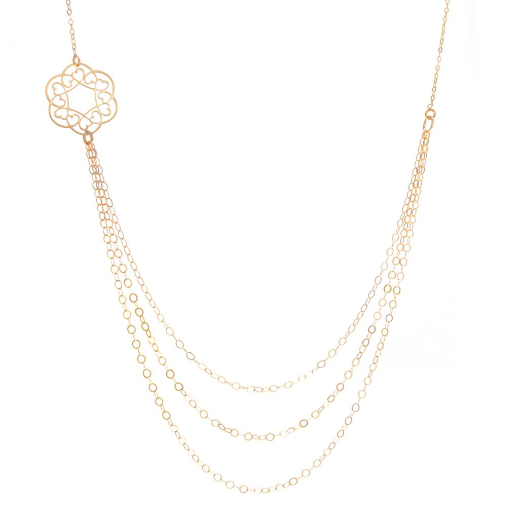 "140-946 - Italian Designs with Stefano 14K Gold 18"" Multi Strand Necklace, 1.33 grams"
