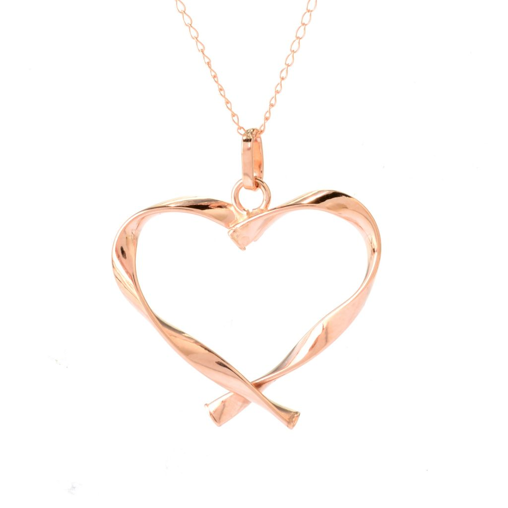 140-947 - Italian Designs with Stefano 14K Gold Twisted Heart Pendant w/ Chain