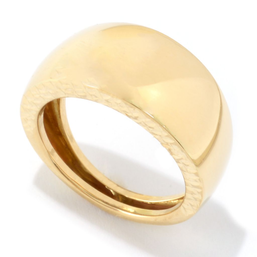 140-958 - Italian Designs with Stefano 14K Gold Diamond Cut Polished Ring
