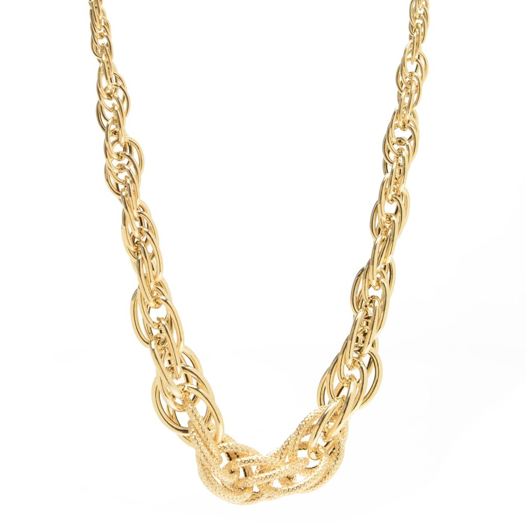 """140-964 - Italian Designs with Stefano 14K Gold 18"""" Graduated Chain Necklace, 5.86 grams"""