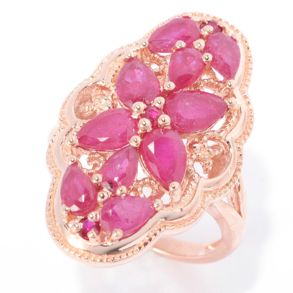 140-985 - NYC II 3.06ctw Innova™ Ruby Elongated Flower Ring