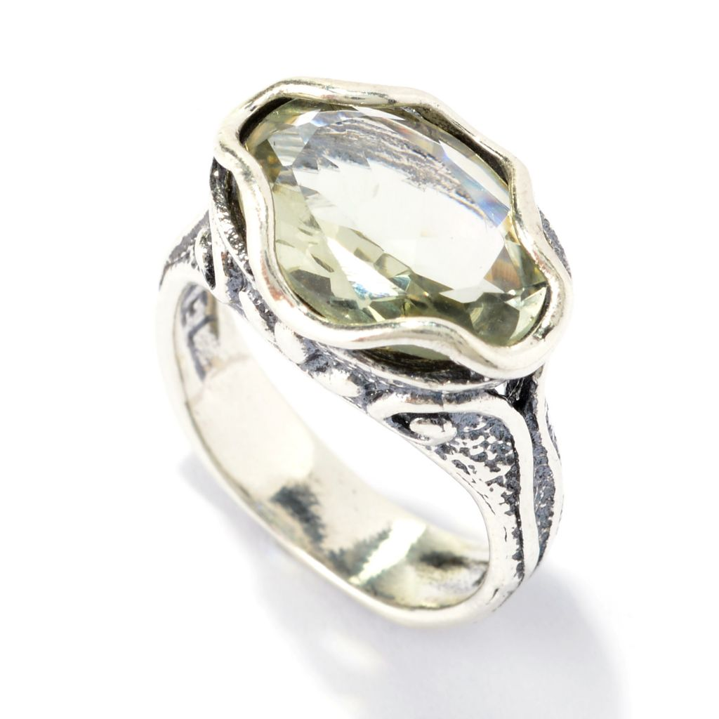141-040 - Passage to Israel Sterling Silver 3.50ctw Oval Gemstone Swirl Ring