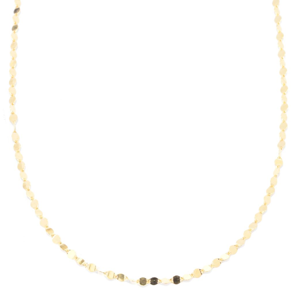 141-112 - Portofino 18K Gold Embraced™ High Polished Fancy Link Necklace