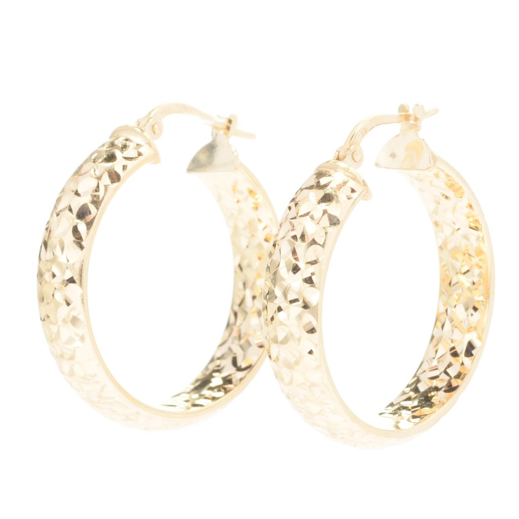 "141-119 - Portofino 1"" Diamond Cut Inside-Out Hoop Earrings"