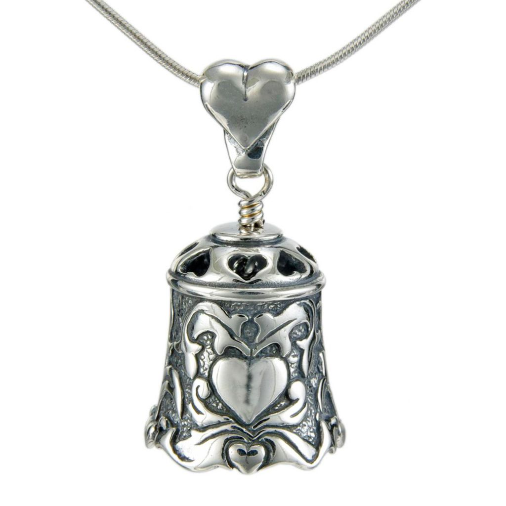 "141-152 - The Bell Collection Sterling Silver 1.5"" ""Love Bell"" Pendant w/ 22"" Chain"