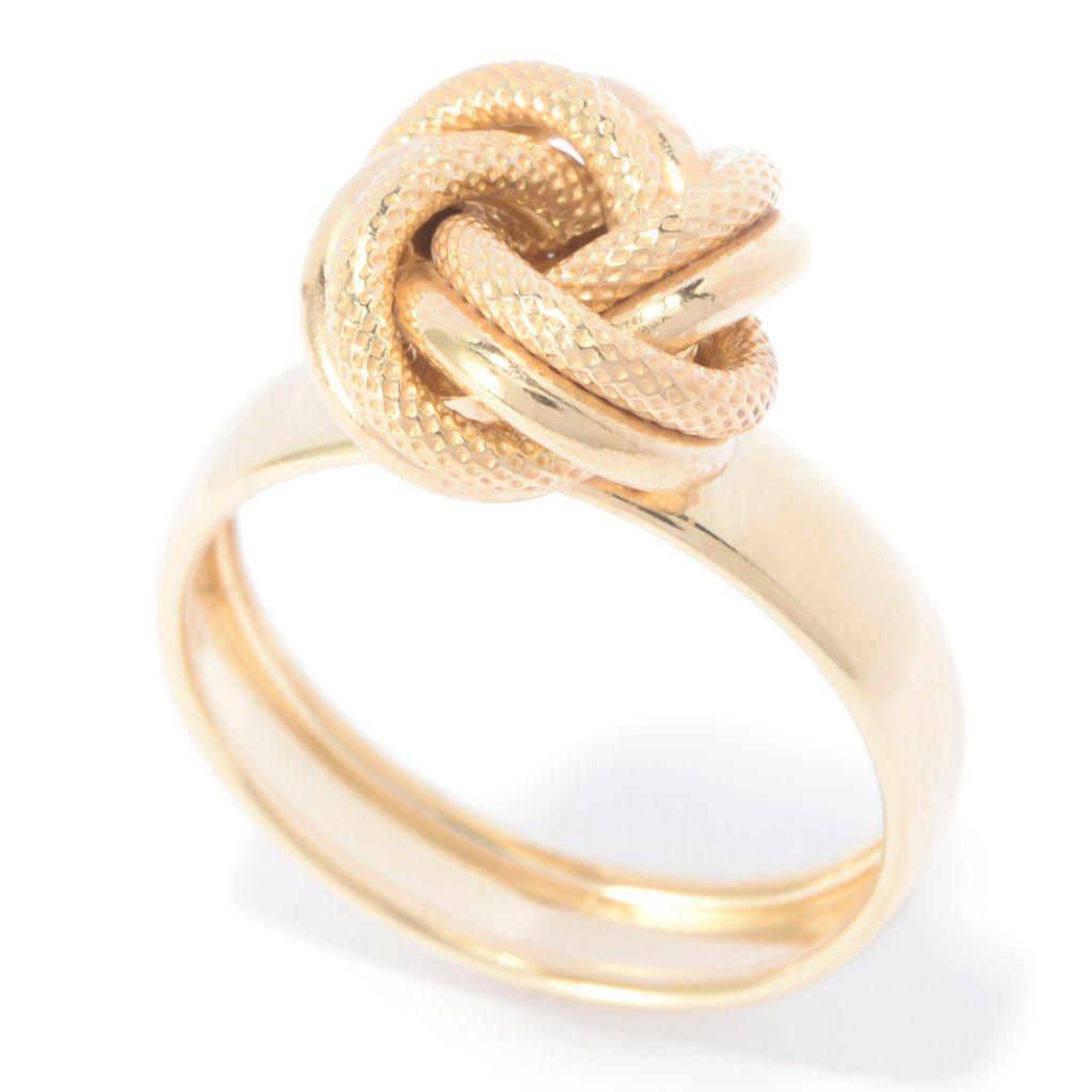 141-178 - Viale18K® Italian Gold Polished & Textured Knot Ring