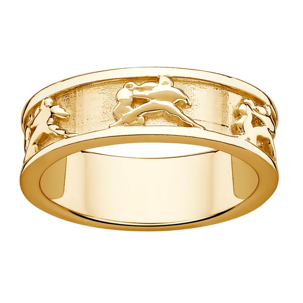 141-194 - 14K Gold Embraced™ Zodiac Band Ring