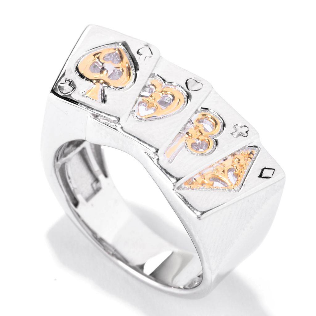 141-272 - Men's en Vogue Two-tone Deck of Cards Polished Band Ring