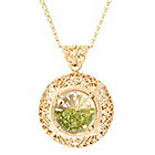 141-347 - Antalia™ Turkish Jewelry 18K Gold Embraced™ Floating Gemstone Filigree Pendant