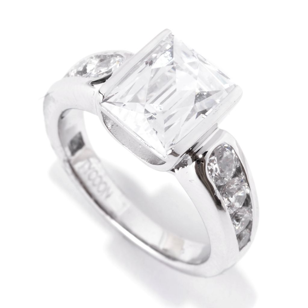 141-399 - TYCOON Platinum Embraced™ 3.38 DEW TYCOON CUT Simulated Diamond Ring